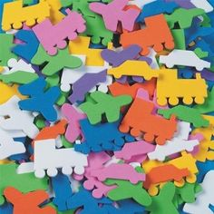 Amazon.com: Color Splash! Shapes W/ Adhesive Planes, Trains & Autos, 400 Pcs.: Arts, Crafts & Sewing