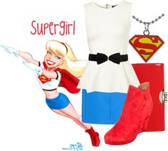 """Supergirl"" by jami1990 ❤ liked on Polyvore"