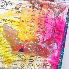 Splatters and Drips Art Journal Page