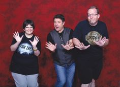 """Us with Sean Astin (""""Lord of the Rings""""! """"The Goonies""""! """"Rudy""""! And son on!) at HorrorHound Indianapolis 2017."""
