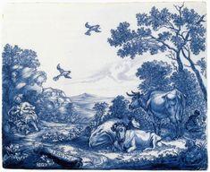 Роспись с пророком Илия  1658 Tin остеклением earhtenware, 25 х 30 см Государственный музей, Амстердам eva_k2