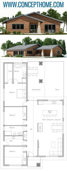 House Front Design Modern Floor Plans Ideas For 2019 Kitchen Layout Plans, House Layout Plans, House Layouts, Kitchen Ideas, Kitchen Decor, Kitchen Design, Modern Entrance, House Entrance, Best House Plans