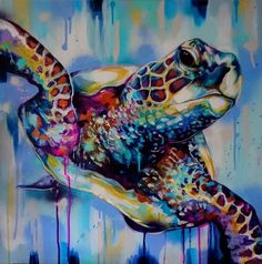 Sian Storey - Paintings for Sale Sian Storey<br> Sea Turtle Painting, Sea Turtle Art, Phenix Tattoo, Cute Turtles, Sea Turtles, Sea Life Art, Tropical Art, Ocean Art, Pictures To Paint