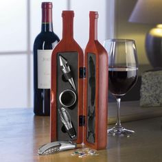 A clever way to store your wine tools.