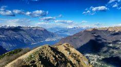 Mountain view over Lake Como  www.hotel-posta.it