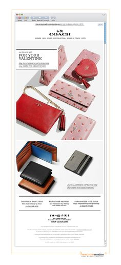 Brand: Coach   Subject: Perfect Gifts For Your Valentine