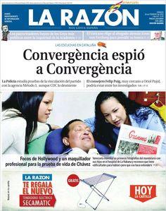 Los Titulares y Portadas de Noticias Destacadas Españolas del 16 de Febrero de 2013 del Diario La Razón ¿Que le parecio esta Portada de este Diario Español?