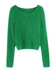 Thicken Design O-Neck Slit Long Sleeve Sweater