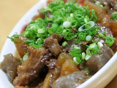 Doteyaki - Beef Tendons and Daikon Radish Simmered With Miso Recipe by cookpad. Japanese Dishes, Japanese Food, Cook Pad, Miso Recipe, Beef Recipes, Cooking Recipes, Weeknight Meals, Food Dishes, Food Styling
