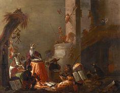il Collegio degli Animali, dipinto nel 1655 da Cornelis Saftleven (pittore dei…