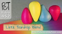 Lietz Teardrop Blend - Abbreviated Skinner Blend - Polymer Color Blends Made Easy