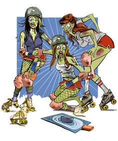 Roller Derby Zombies - Mandy Newham