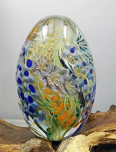 Hand Crafted Lamp Worked Glass Bead by Glassactcc on Etsy, $135.00