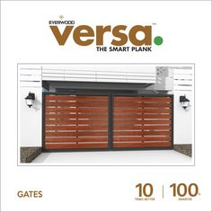 Versa Plank #gates gives your #home a majestic appeal. No need to #paint and no need to #coat.  10 times better | 100% smarter more details click : http://versaplank.in/