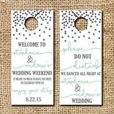 Do not Disturb Wedding Door Hangers by CamilleMonacoDesigns