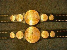 WWE tag team championship belts