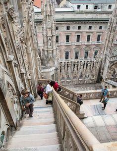 Duomo terraces in Milan.
