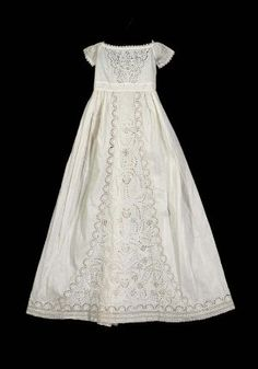 Cotton Infant's dress American, first half of 19th century