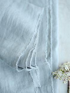 "Chunky Stonewashed Linen ""Blue Gray"" (007) ~ £54 - Peony & Sage"