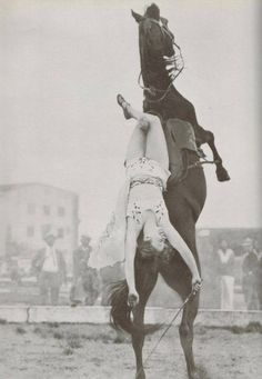 Trick rider Dorothy Herbert