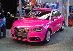 audi a1 pink #Beautiful #Pink #Car