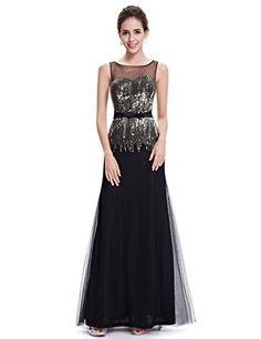 e2605e679d31 Ever Pretty Womens Elegant Sleeveless Round Neck Evening Party Dress 4 US  Green