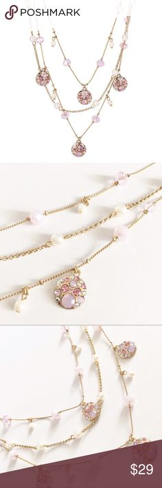 Betsey Johnson Metallic Memoirs pink necklace New with tags  Bundle 3+ for 20% off Betsey Johnson Jewelry Necklaces