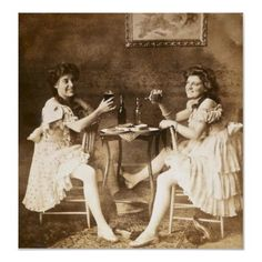 Ballet Dancers with Beer - Vintage Stereoview Posters by scenesfromthepast