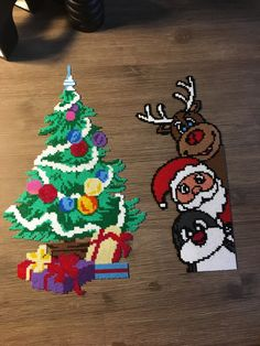 Perler Bead Templates, Diy Perler Beads, Perler Bead Art, Perler Patterns, Christmas Perler Beads, Christmas Ornaments To Make, Christmas Crafts, Perler Bead Disney, Beading For Kids
