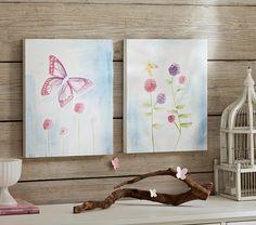 Botanical Canvas Art | Pottery Barn Kids