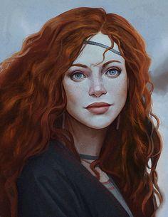 Girl from the North, Sam Hogg on ArtStation at https://www.artstation.com/artwork/8yrYn