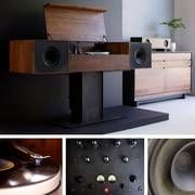 Modern Record Console (with tube amp and record player), ipad enabled.