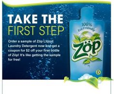 Free Sample of ZOP Eco-Friendly Laundry Detergent