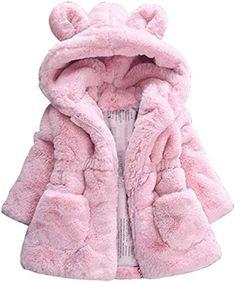 XIAXAIXU Kids Baby Girls Boys 3D Ears Hooded Long Sleeve Solid Zipper Down Parkas Coat Snow Warm Outfits Outerwear
