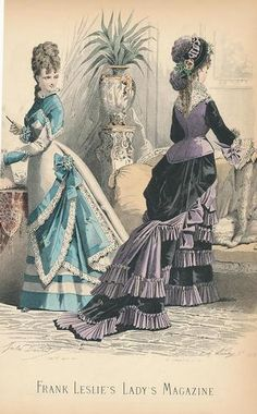 Check out that side eye! >>  Lovely Original Antique Hand Color Fashion Print C 1870 Plate 1272 | eBay