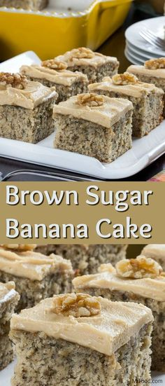 One of our favorite ways to use up ripe bananas is to bake 'em into a cake, like this Brown Sugar Banana Cake. This banana cake recipe makes such a moist and delicious cake that no one will be able to keep away!