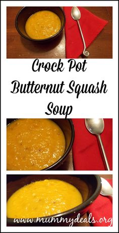 Crock Pot Butternut Squash Soup from mummy deals is healthy abd delicious!