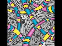 Two Tangle Tile ║ Freeform Tangle ║ Tiffany Lovering - YouTube