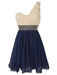 sweetheart one shoulder cute mini prom dress/homecoming dress on Etsy, $139.99