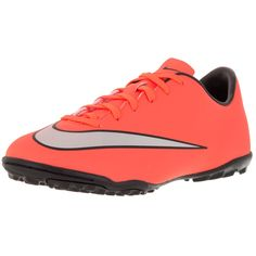 Nike Kid's Jr Mercurial Victory V Tf Brightt Magenta/ Silver/ Trq Turf Soccer Shoe