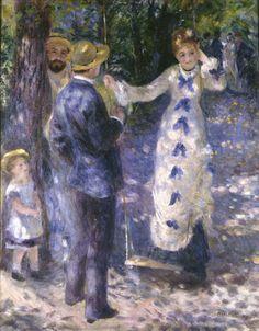 """Pierre-Auguste Renoir (1841-1919) - """"La balançoire"""" - Huile sur toile - http://www.musee-orsay.fr/es/colecciones/catalogo-de-obras/resultat-collection.html?no_cache=1&zoom=1&tx_damzoom_pi1[zoom]=0&tx_damzoom_pi1[xmlId]=001096&tx_damzoom_pi1[back]=es%2Fcolecciones%2Fcatalogo-de-obras%2Fresultat-collection.html%3Fno_cache%3D1%26zsz%3D9"""