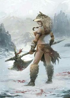 If I ever play a Barbarian, this is my character. Unless I can find one that looks more deadly.