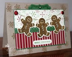 Cute hanging Gingerbread men using the Scentsational Season set. @Claire Daly