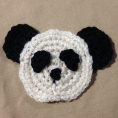 Crochet a Simple Panda Bear Applique with @guidecentral