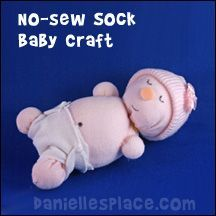 Sunday School Lesson for Children - Sock Crafts for Kids www.daniellesplace.com