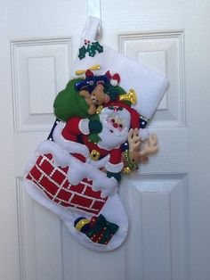 Bucilla Christmas Stocking Tree Shopping by HollyCreations on Etsy Cute Christmas Stockings, Snowman Christmas Decorations, Felt Christmas, Christmas Snowman, Christmas Projects, Christmas Themes, Handmade Christmas, Stocking Tree, Tree Shop