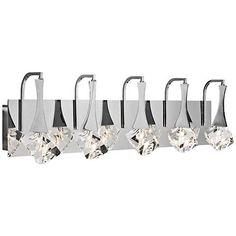 "Elan Rockne 5-Light Chrome 32"" Wide LED Bath Light - #1X853 | Lamps Plus"