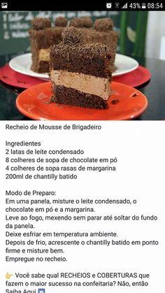 Best Dessert Recipes, Fun Desserts, Cake Recipes, Brazillian Food, My Favorite Food, Favorite Recipes, Bread Cake, Mini Cheesecakes, Frosting Recipes