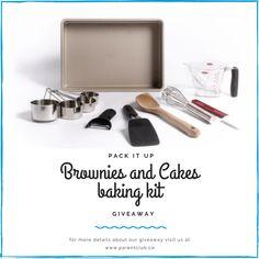 PACK IT UP BAKING KIT GIVEAWAY | Cake Kit, Fishing Kit, Brownie Cake, Back To Basics, Homemade Pasta, Practical Gifts, Couple Gifts, Diy Kits, No Bake Cake