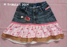 Rock aus Jungshose / Skirt made from boys' jeans / Upcycling